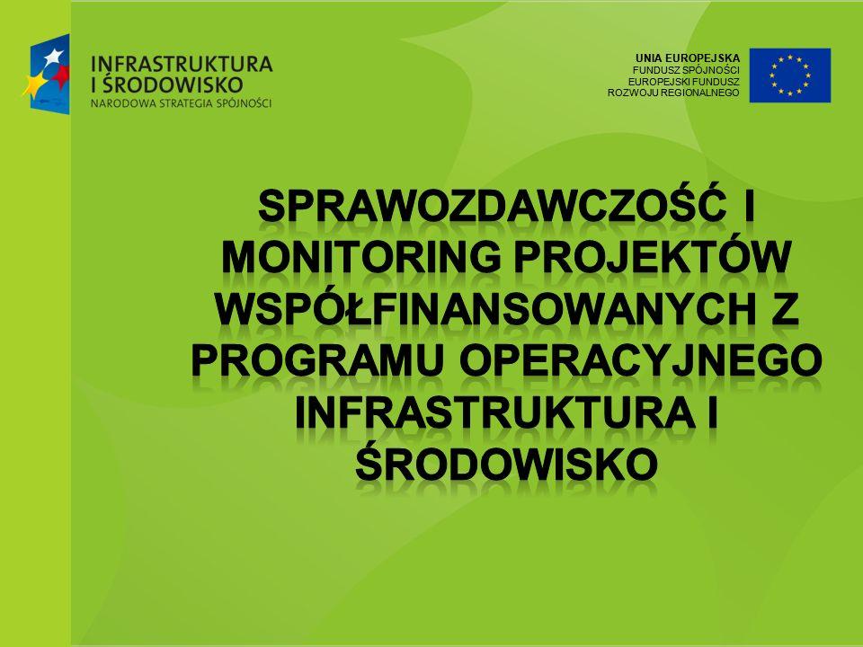 Sprawozdawczość i monitoring projektów współfinansowanych z Programu Operacyjnego Infrastruktura i Środowisko