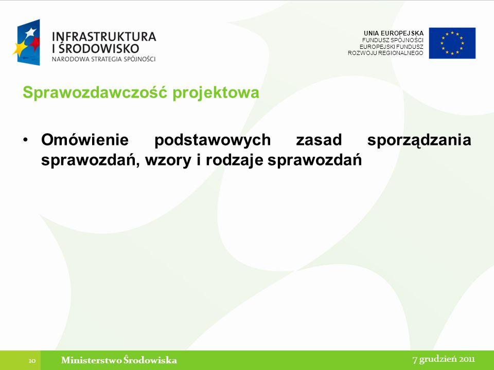 Sprawozdawczość projektowa