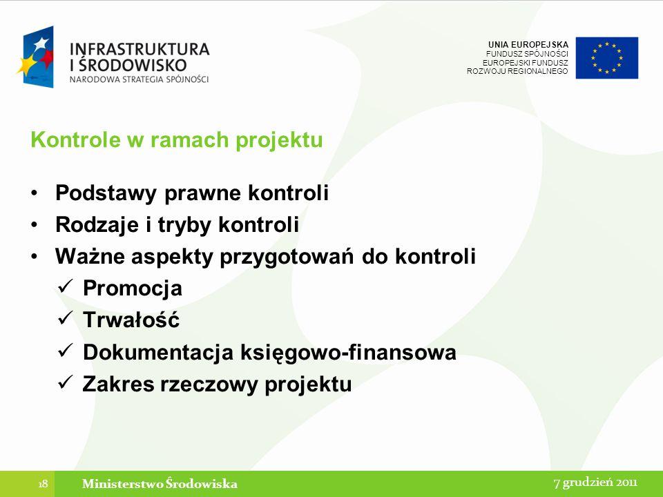 Kontrole w ramach projektu
