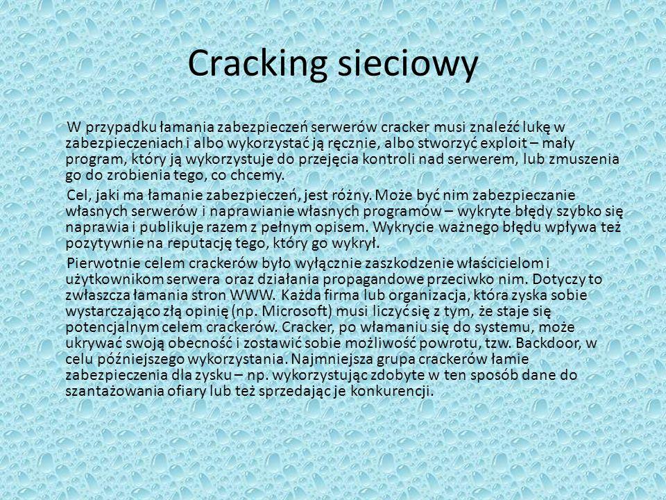 Cracking sieciowy