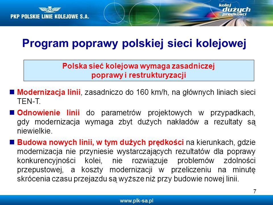 Program poprawy polskiej sieci kolejowej