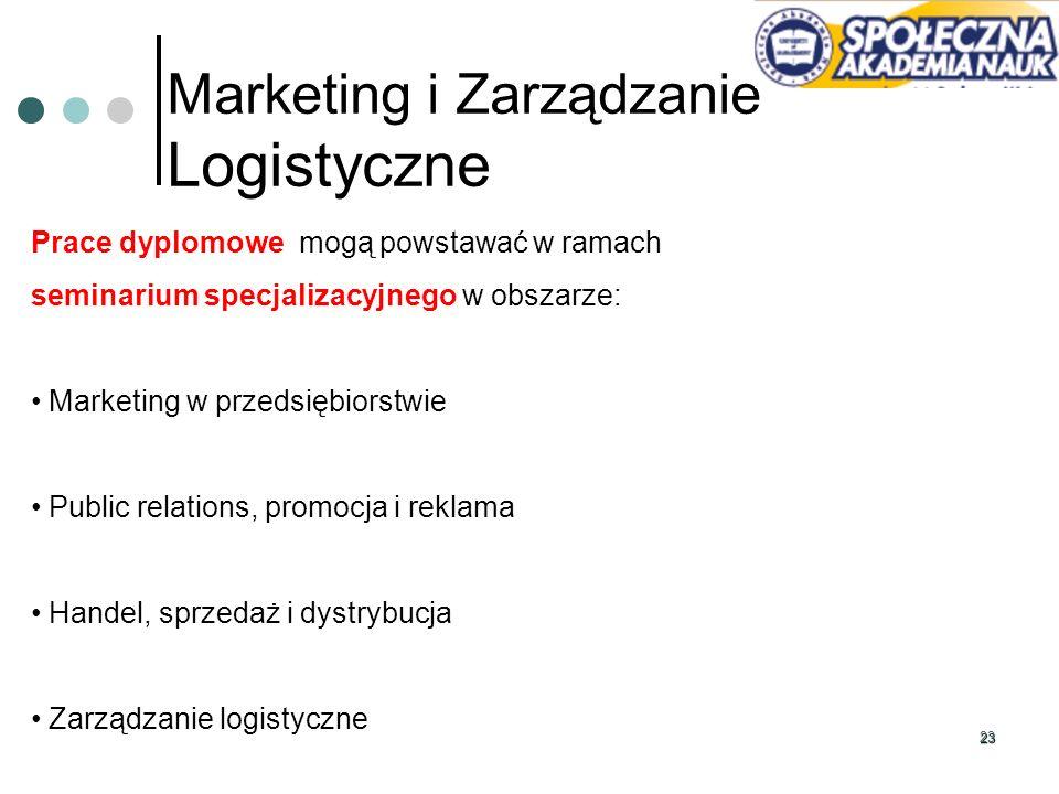 Marketing i Zarządzanie Logistyczne