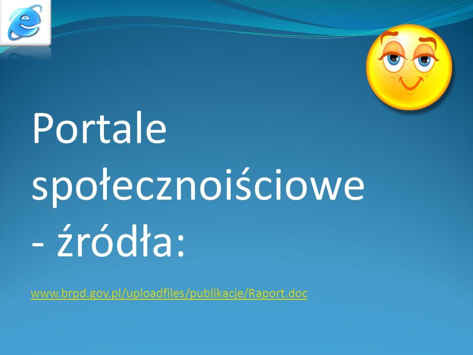 Portale społecznoiściowe - źródła: