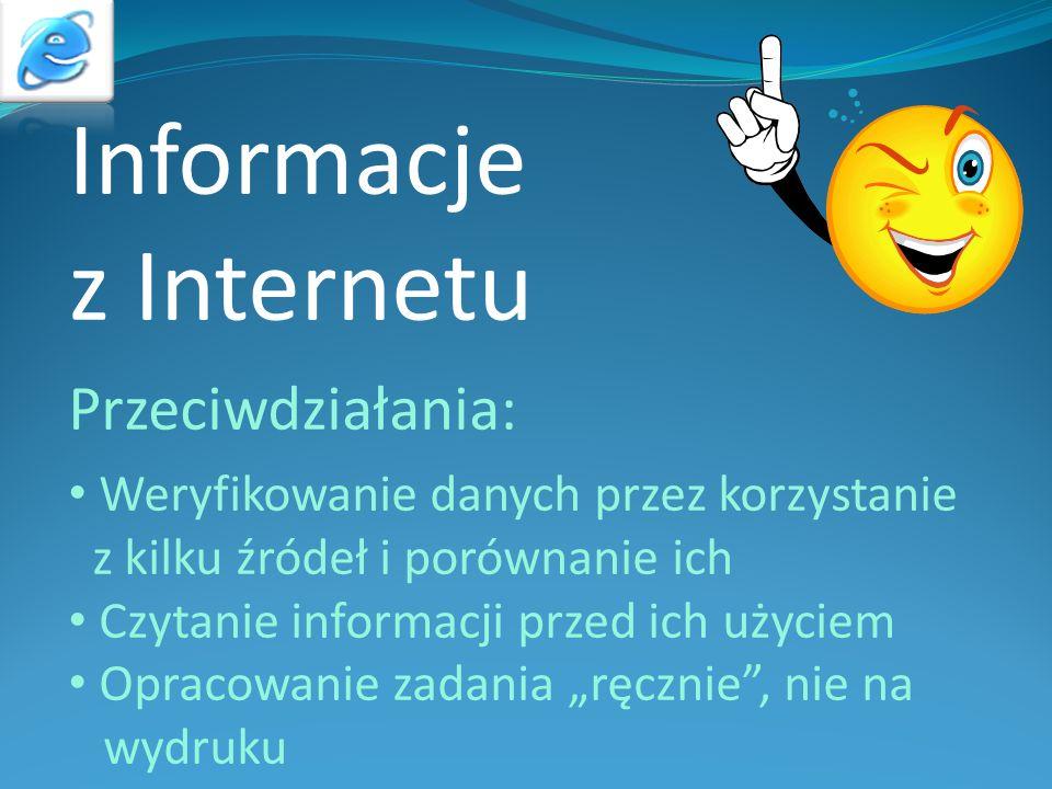 Informacje z Internetu Przeciwdziałania: