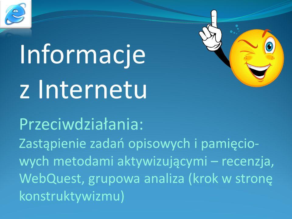 Informacje z Internetu