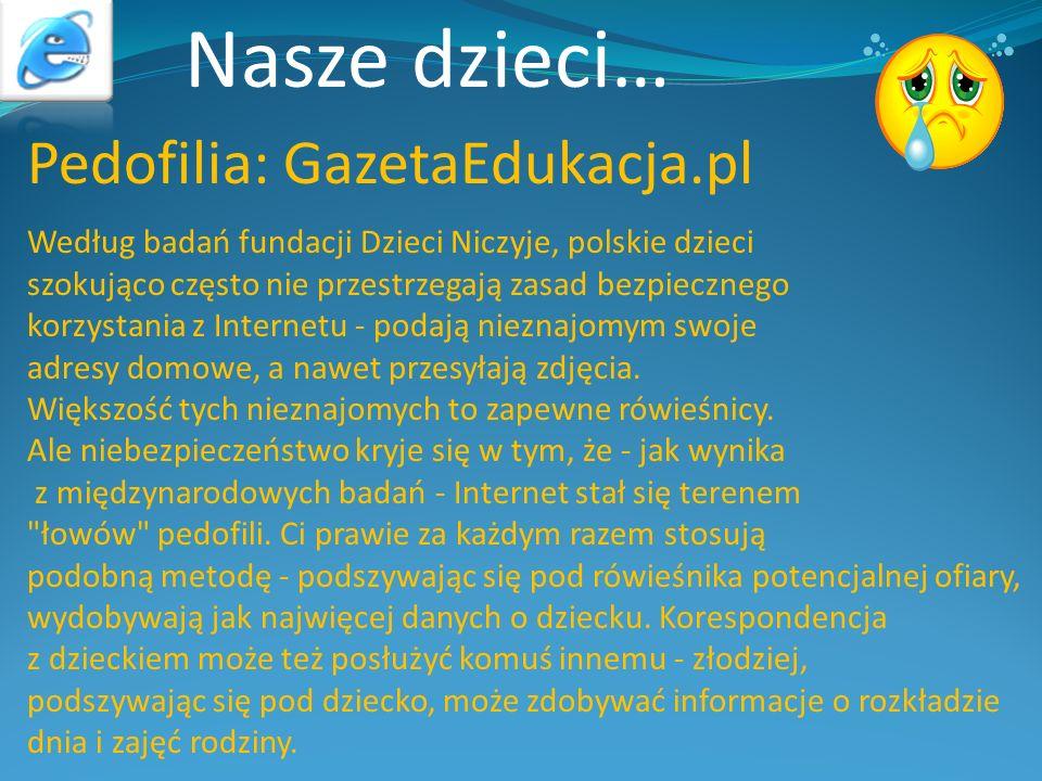 Nasze dzieci… Pedofilia: GazetaEdukacja.pl