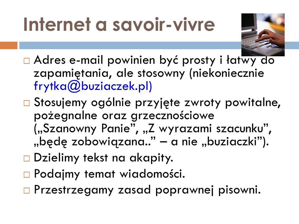 Internet a savoir-vivre