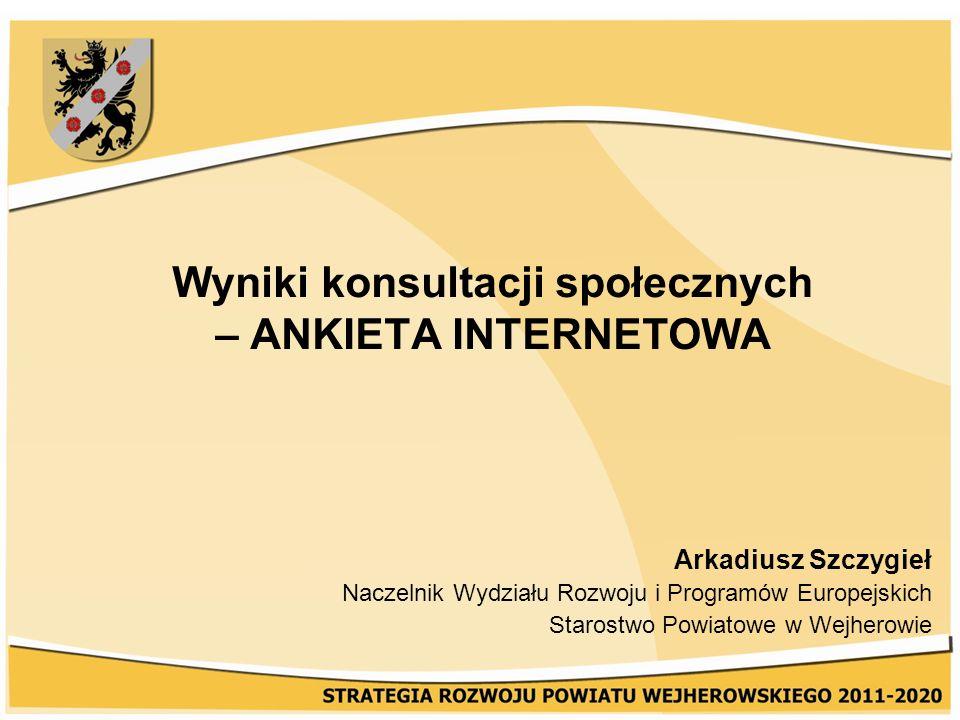 Wyniki konsultacji społecznych – ANKIETA INTERNETOWA