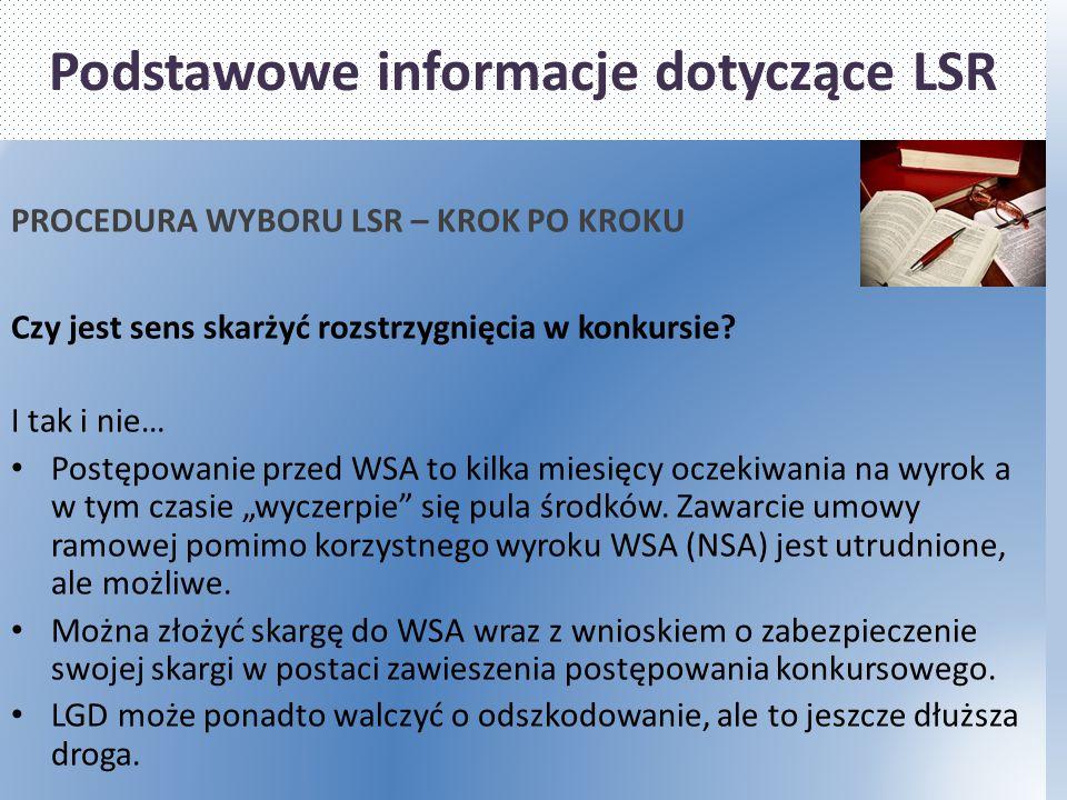 Podstawowe informacje dotyczące LSR