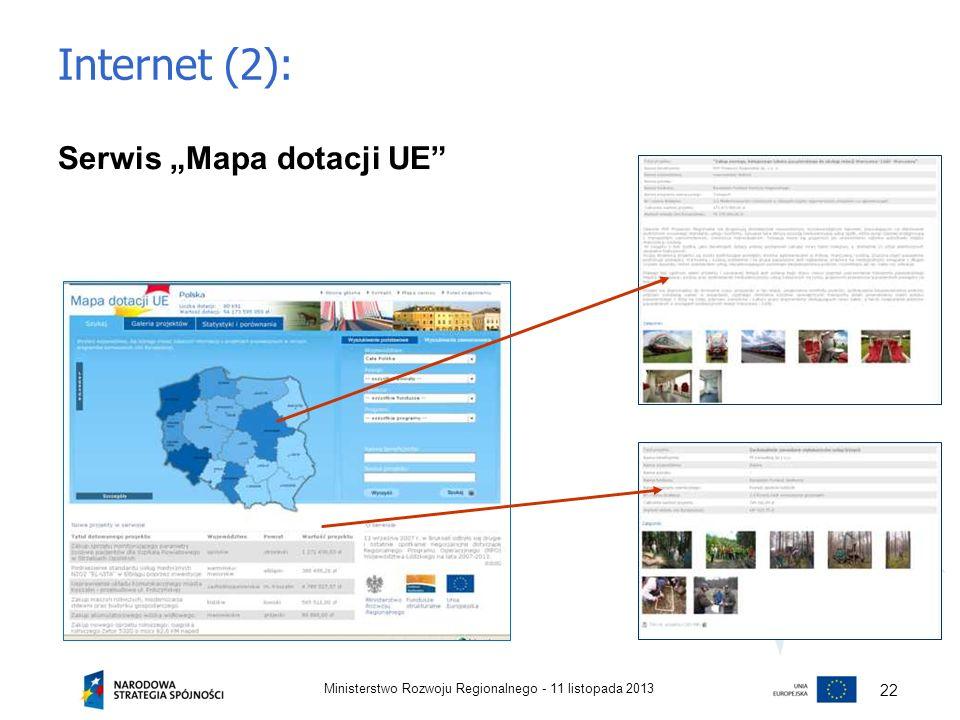 """Internet (2): Serwis """"Mapa dotacji UE 22"""