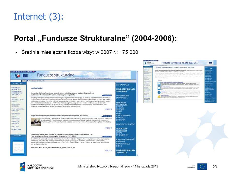 "Internet (3): Portal ""Fundusze Strukturalne (2004-2006):"