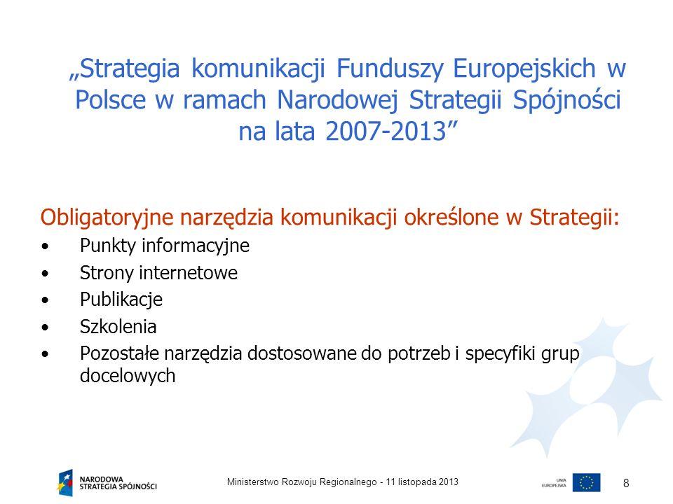"""""""Strategia komunikacji Funduszy Europejskich w Polsce w ramach Narodowej Strategii Spójności na lata 2007-2013"""