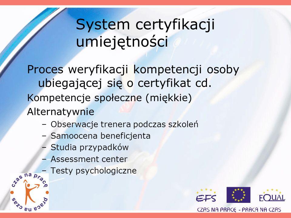 System certyfikacji umiejętności