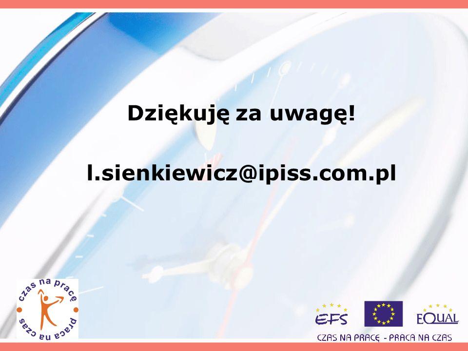Dziękuję za uwagę! l.sienkiewicz@ipiss.com.pl