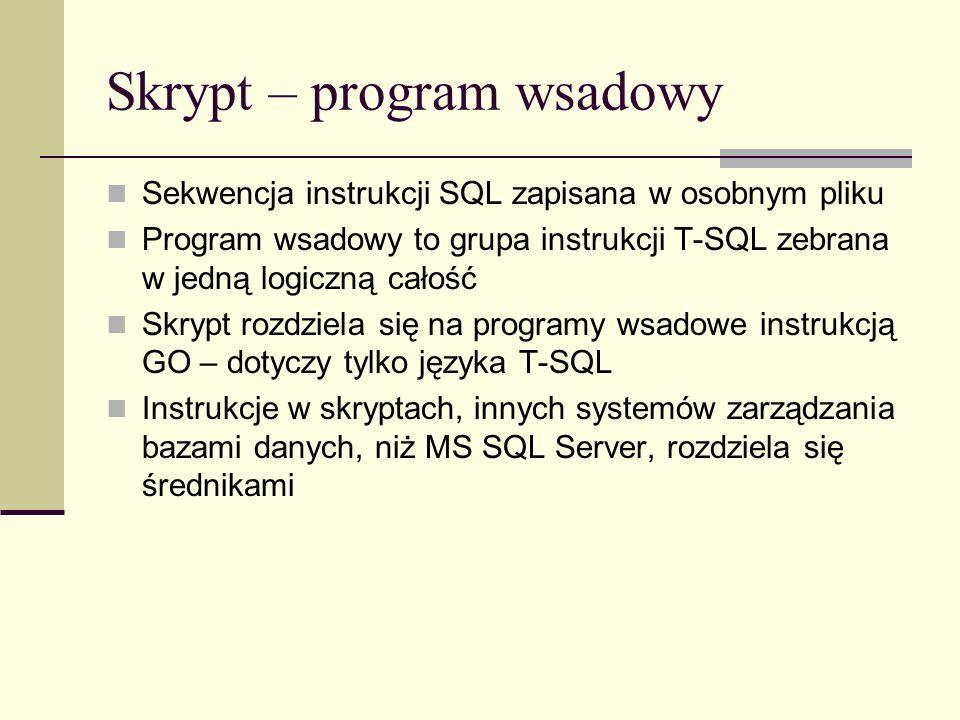 Skrypt – program wsadowy