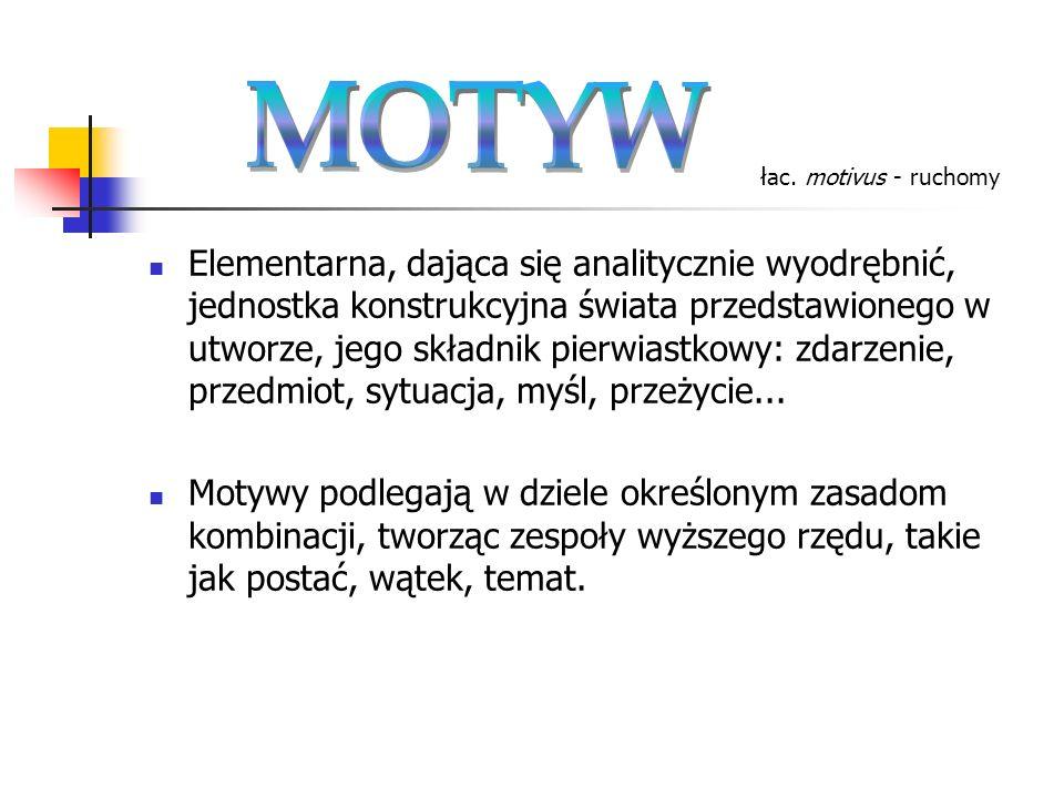 MOTYW łac. motivus - ruchomy.