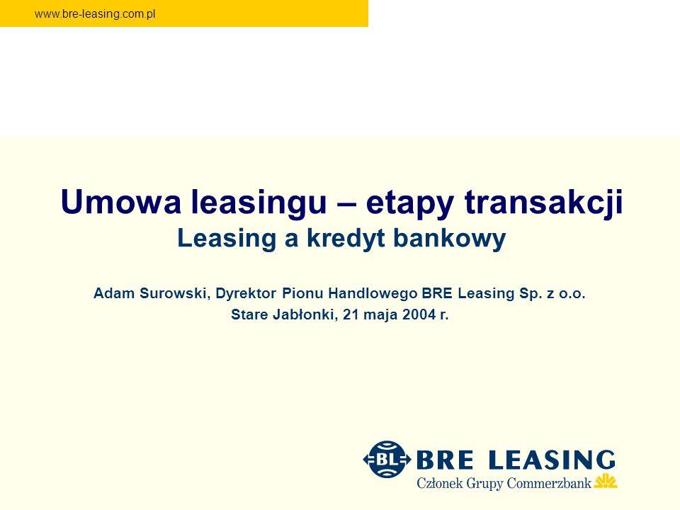 Umowa leasingu – etapy transakcji