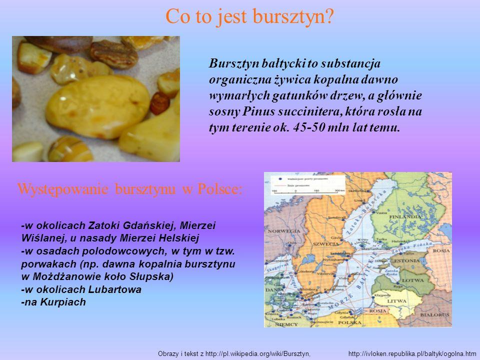 Co to jest bursztyn Występowanie bursztynu w Polsce: