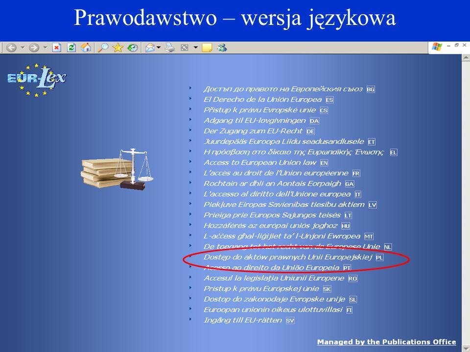 Prawodawstwo – wersja językowa