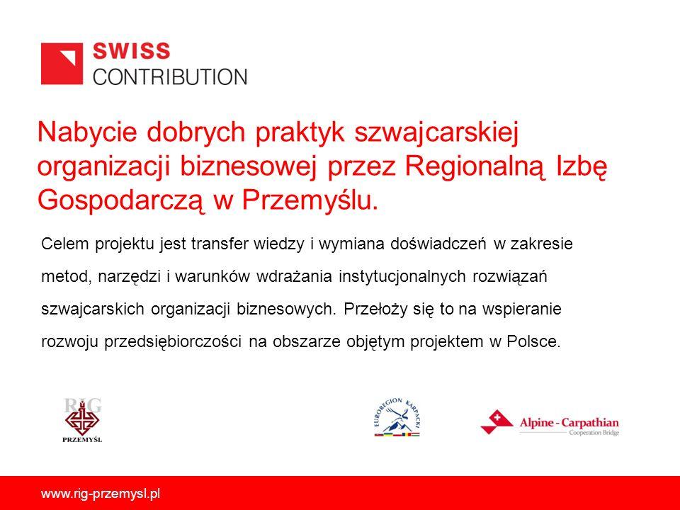 Nabycie dobrych praktyk szwajcarskiej organizacji biznesowej przez Regionalną Izbę Gospodarczą w Przemyślu.