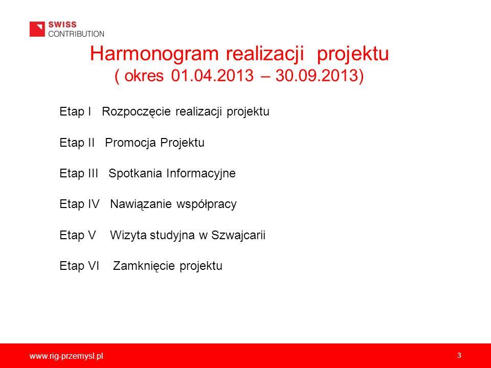 Harmonogram realizacji projektu ( okres 01.04.2013 – 30.09.2013)