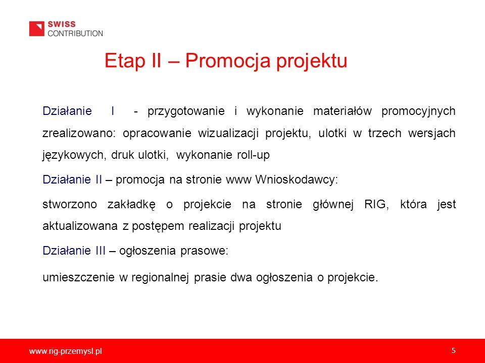 Etap II – Promocja projektu