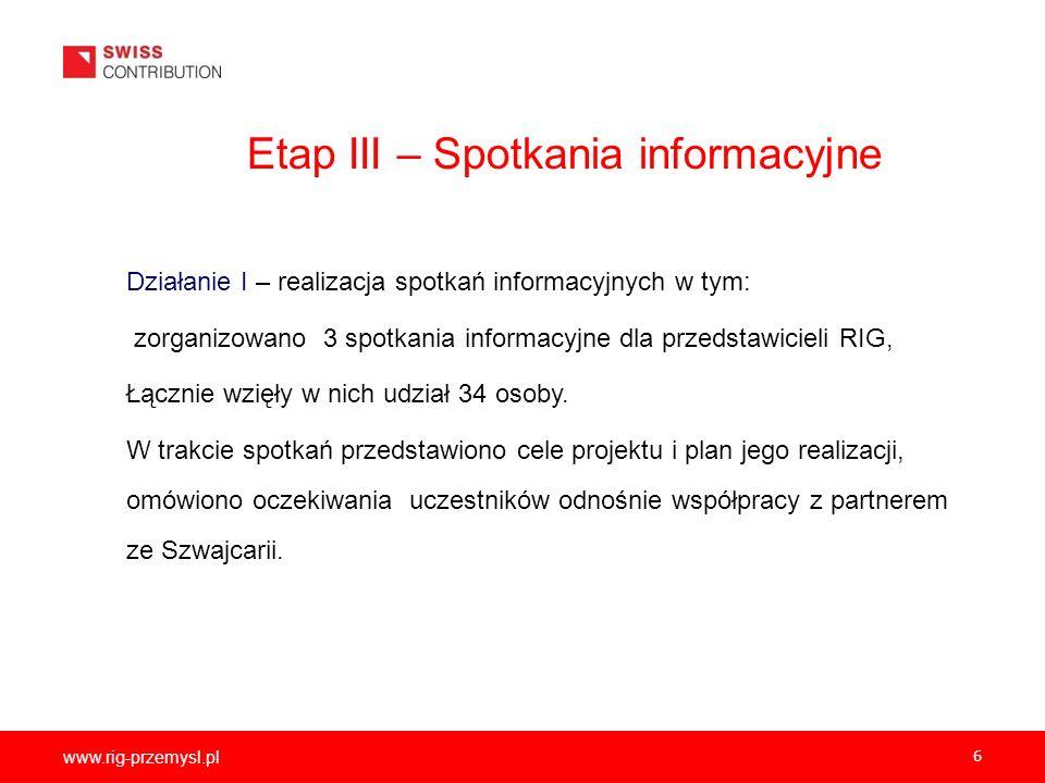 Etap III – Spotkania informacyjne