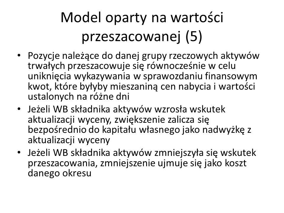 Model oparty na wartości przeszacowanej (5)