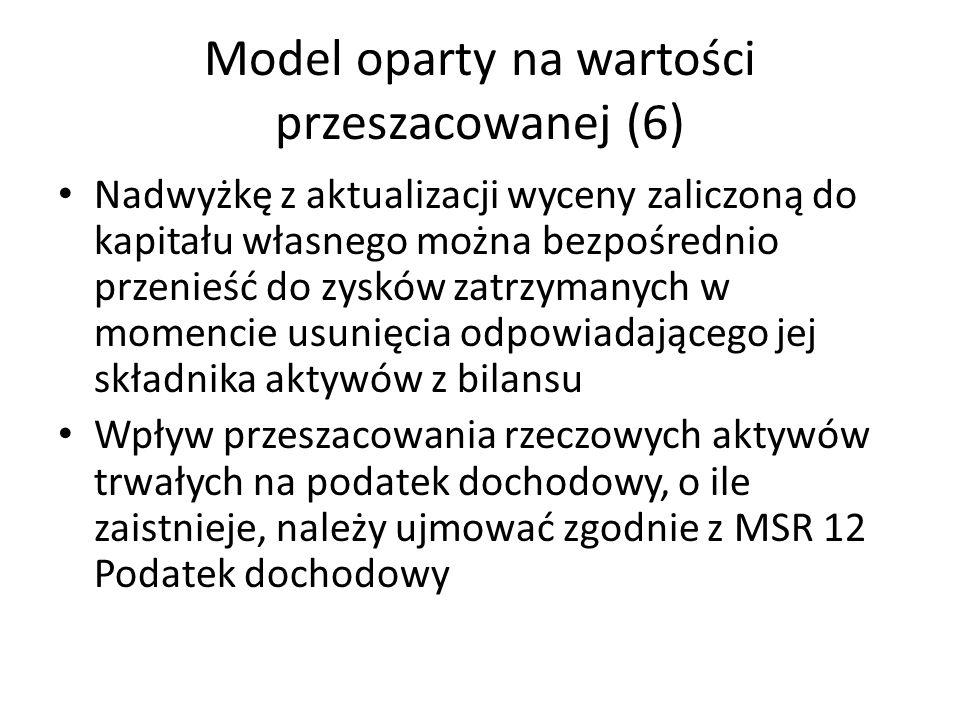 Model oparty na wartości przeszacowanej (6)