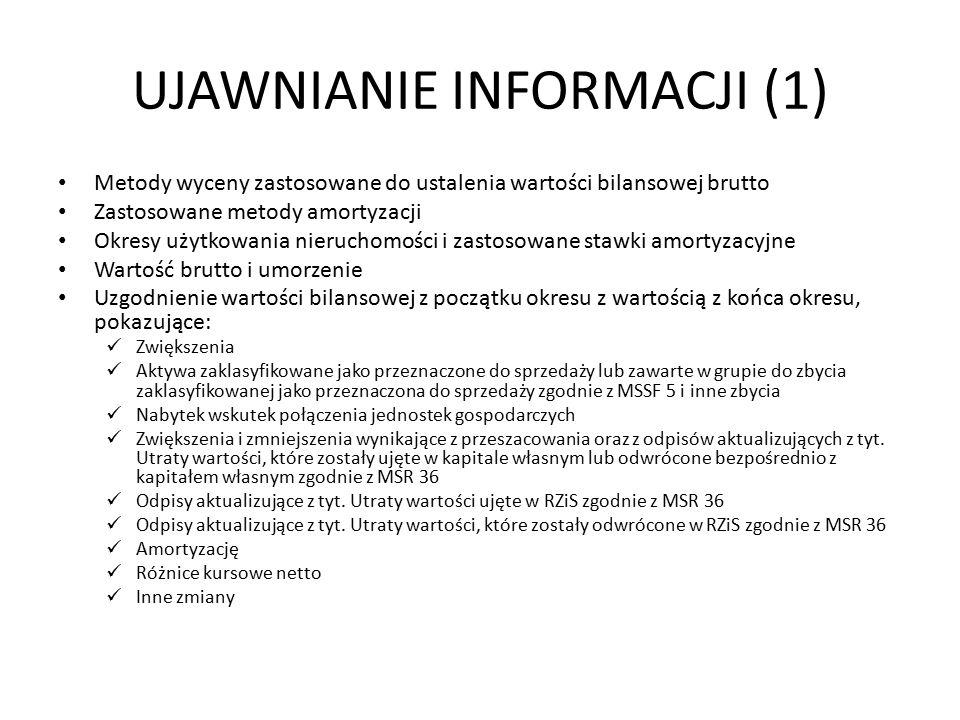 UJAWNIANIE INFORMACJI (1)