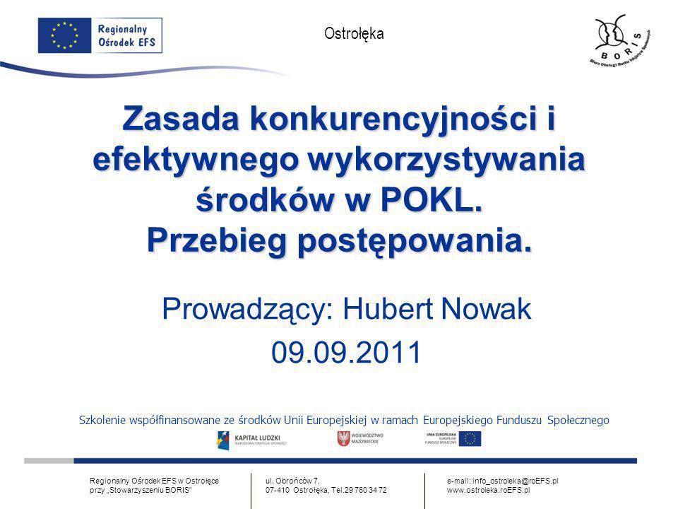 Prowadzący: Hubert Nowak 09.09.2011