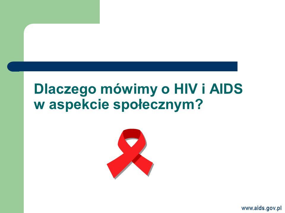 Dlaczego mówimy o HIV i AIDS w aspekcie społecznym