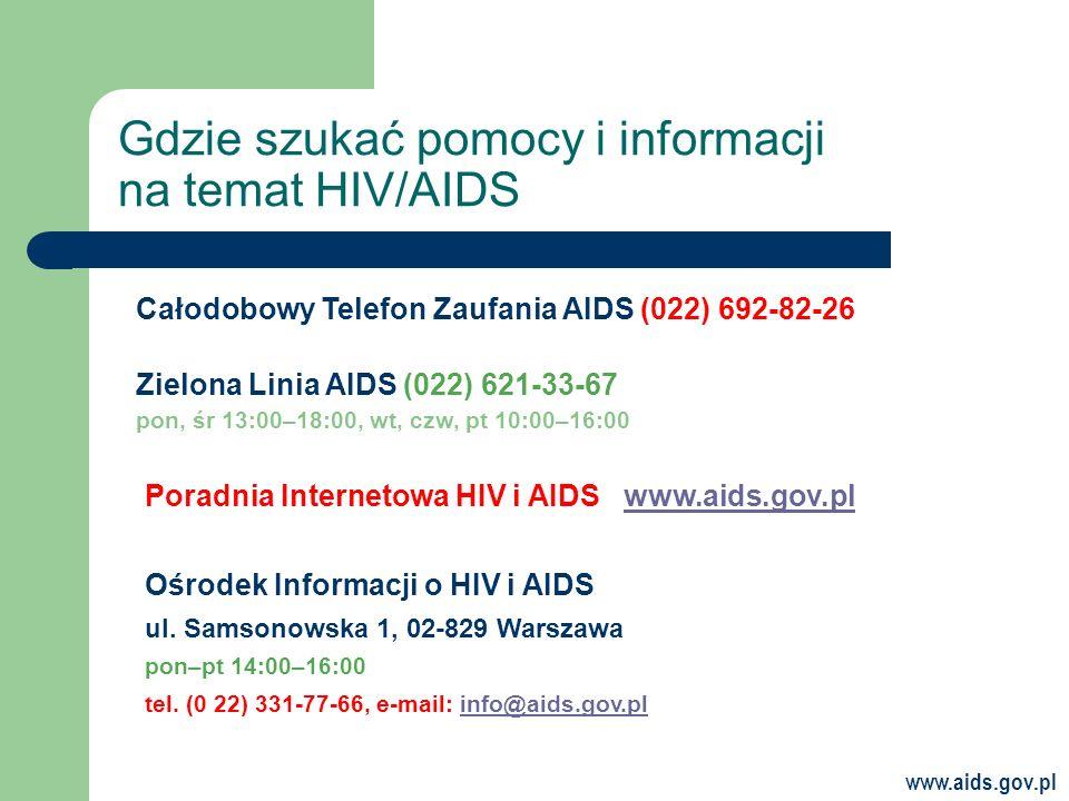 Gdzie szukać pomocy i informacji na temat HIV/AIDS