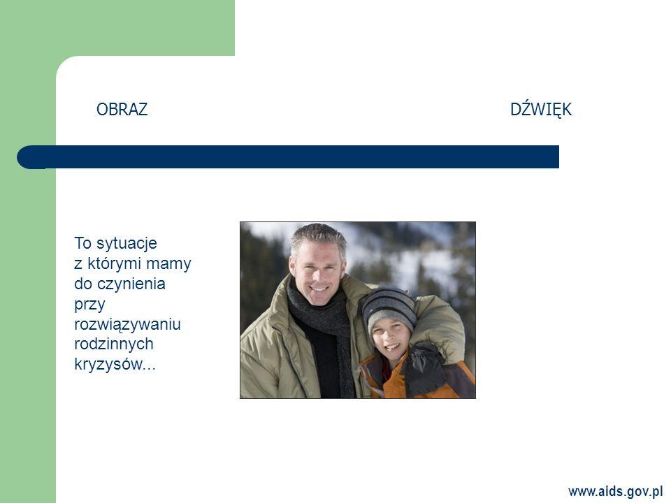 OBRAZ DŹWIĘK To sytuacje z którymi mamy do czynienia przy rozwiązywaniu rodzinnych kryzysów...