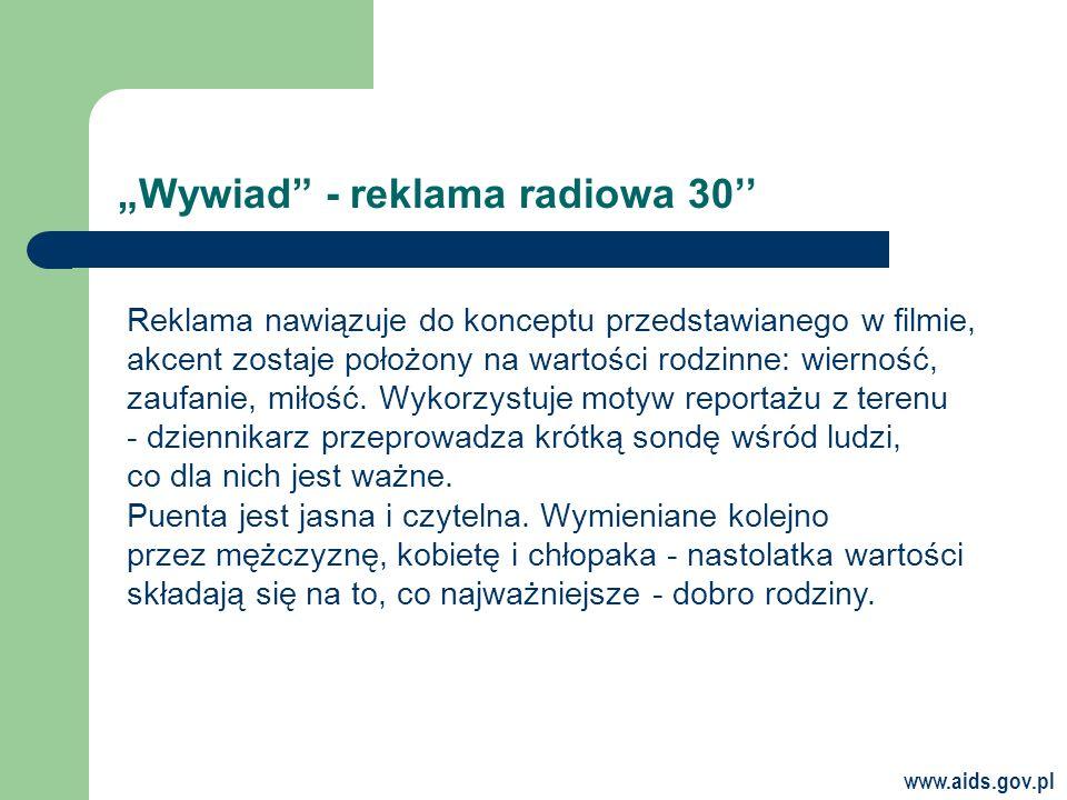 """Wywiad - reklama radiowa 30''"