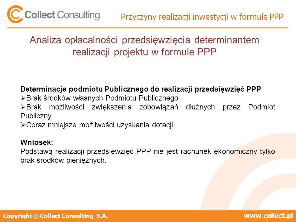 Przyczyny realizacji inwestycji w formule PPP