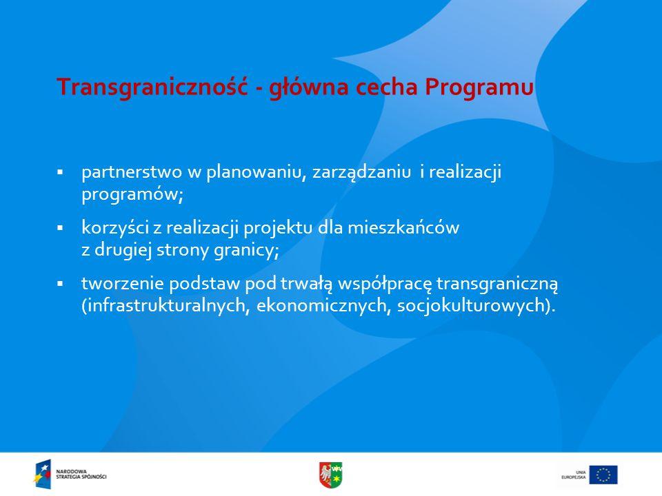 Transgraniczność - główna cecha Programu