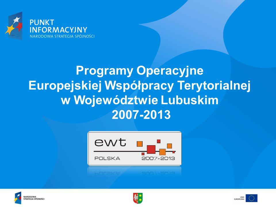 Programy Operacyjne Europejskiej Współpracy Terytorialnej w Województwie Lubuskim