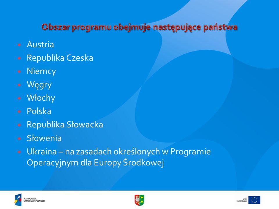Obszar programu obejmuje następujące państwa