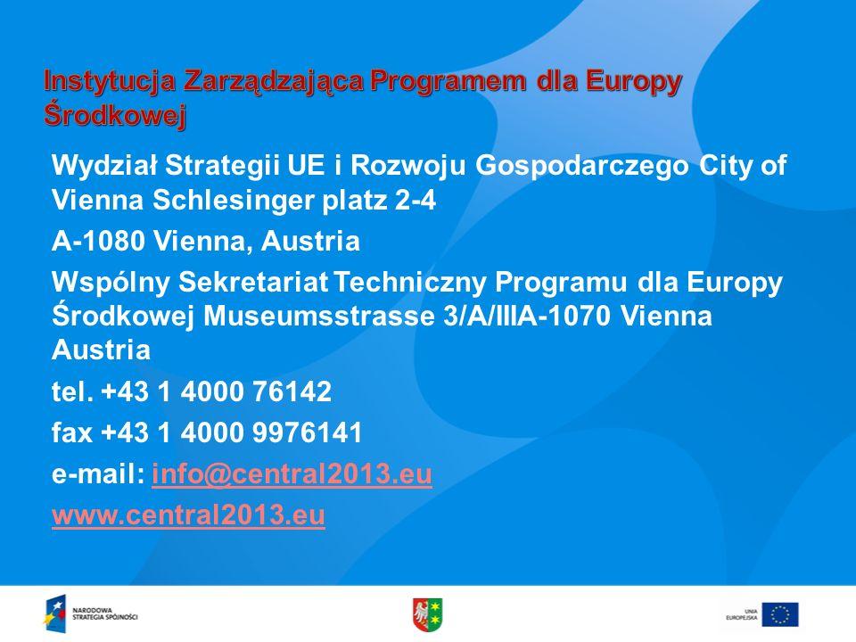 Instytucja Zarządzająca Programem dla Europy Środkowej