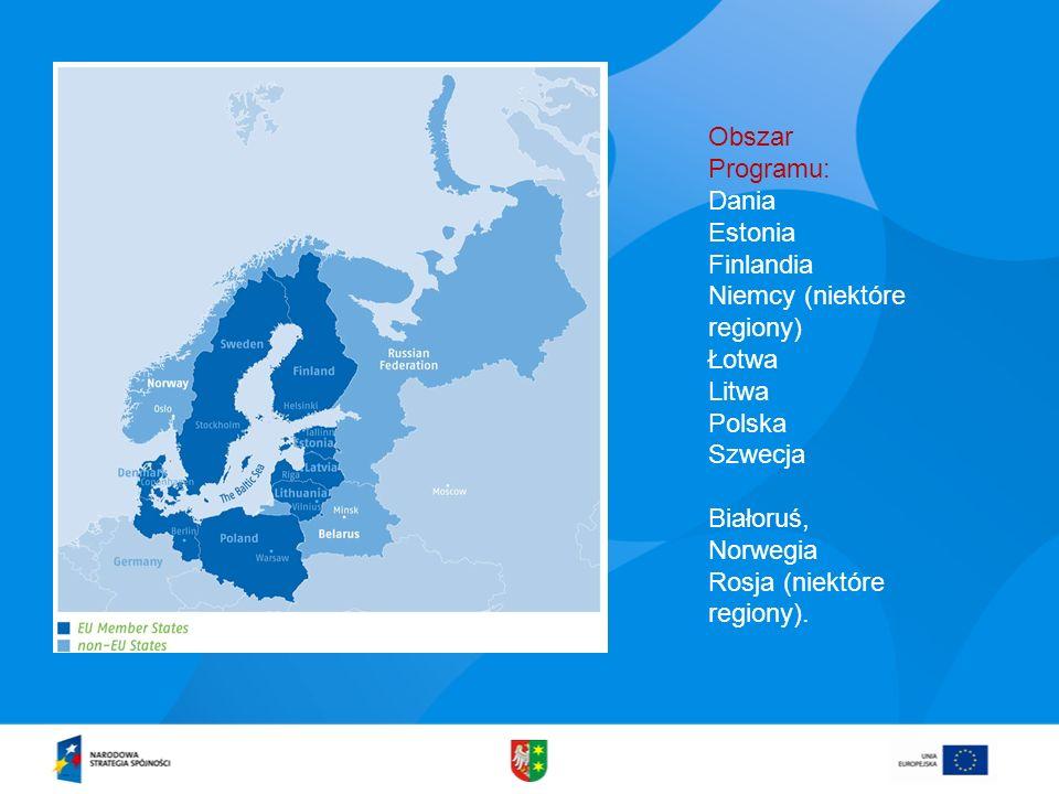 Obszar Programu: Dania. Estonia. Finlandia. Niemcy (niektóre regiony) Łotwa. Litwa. Polska. Szwecja.