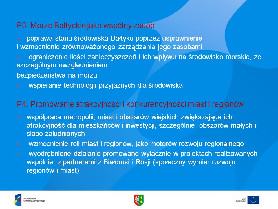 P3. Morze Bałtyckie jako wspólny zasób