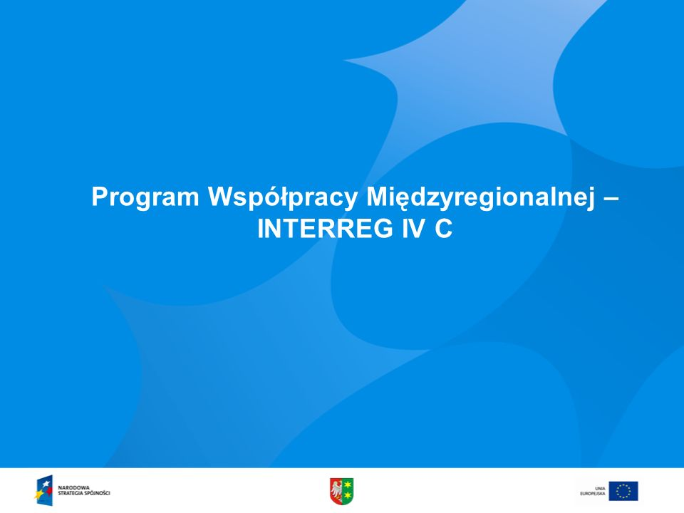 Program Współpracy Międzyregionalnej –