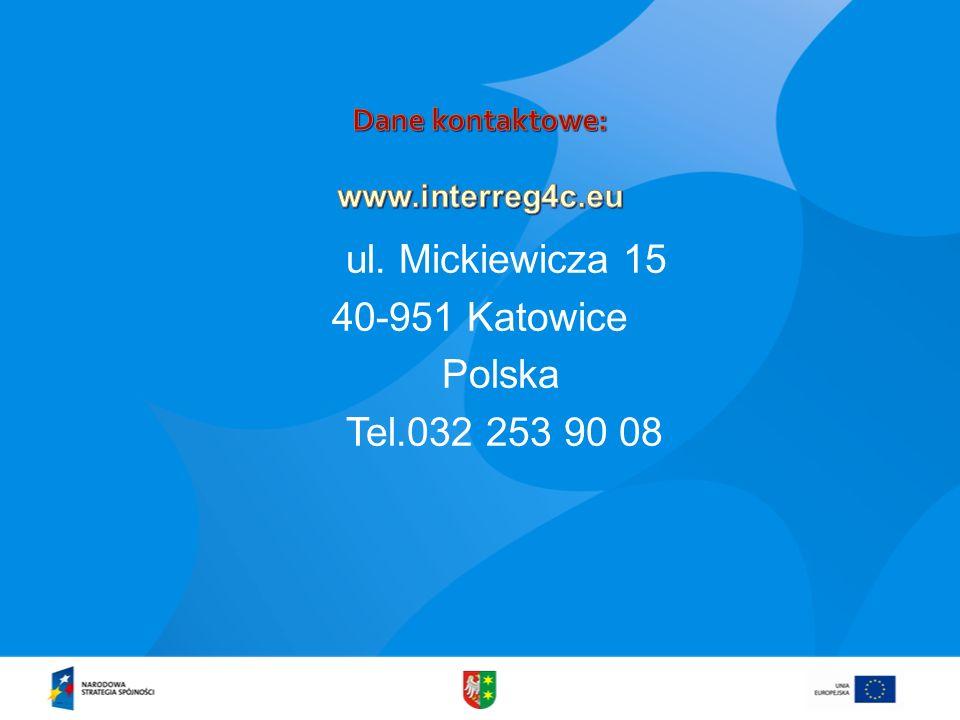Dane kontaktowe: www.interreg4c.eu