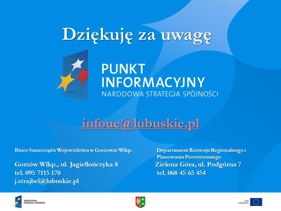 Dziękuję za uwagę infoue@lubuskie.pl