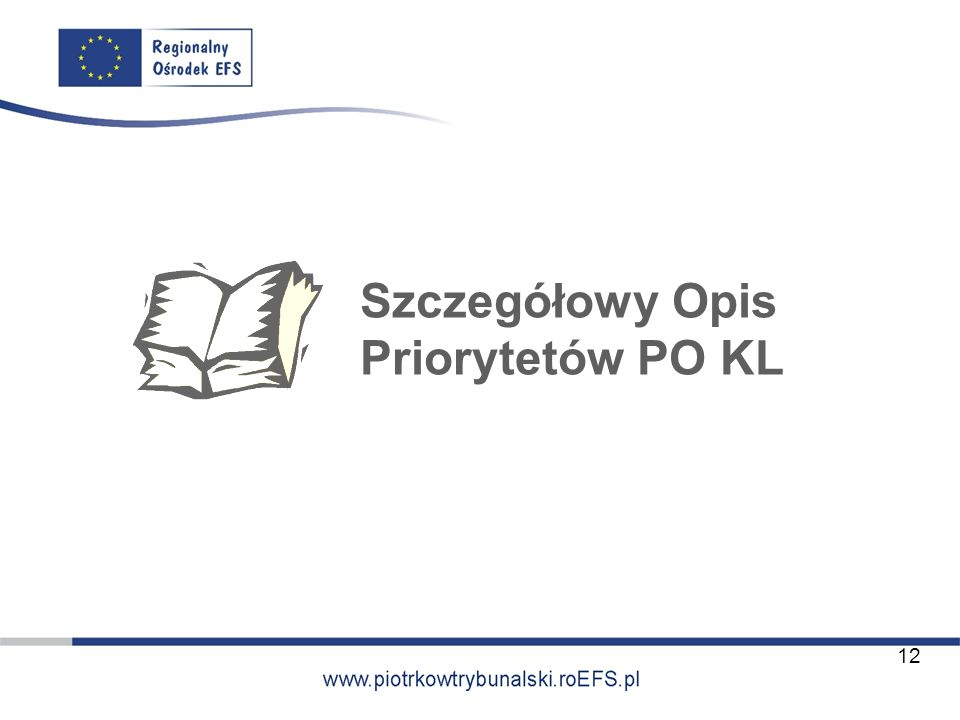 Szczegółowy Opis Priorytetów PO KL