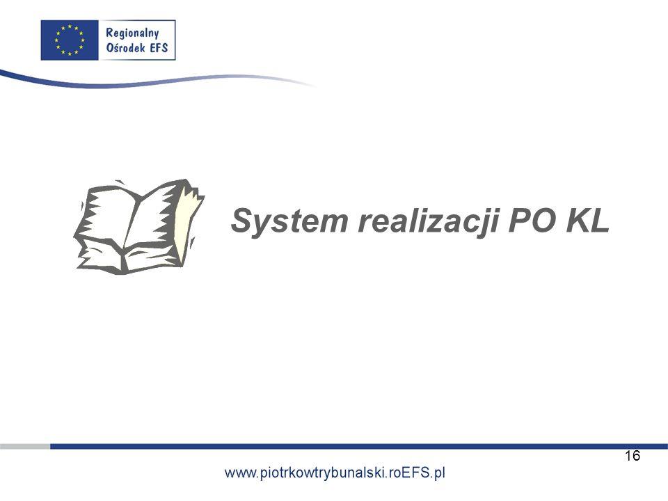 System realizacji PO KL