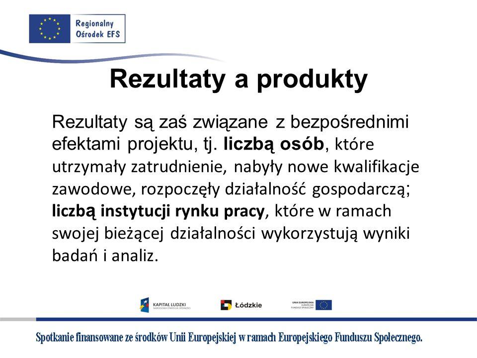 Rezultaty a produkty