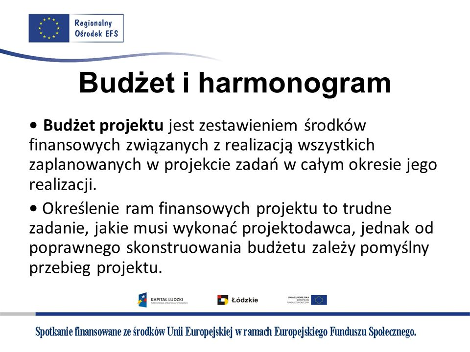 Budżet i harmonogram