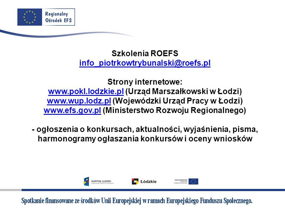 Szkolenia ROEFS info_piotrkowtrybunalski@roefs